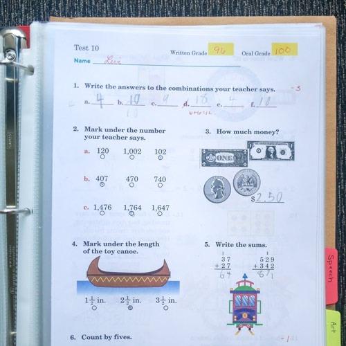 How To Put Together Homeschool Portfolio Abeka Rd Grade Math