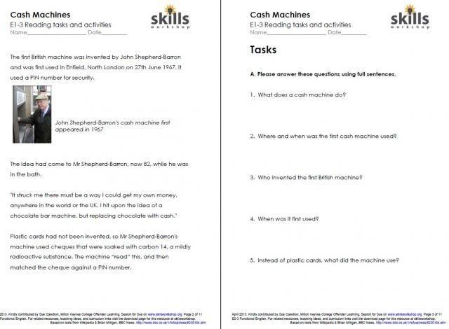 Independent Living Skills Worksheets Free