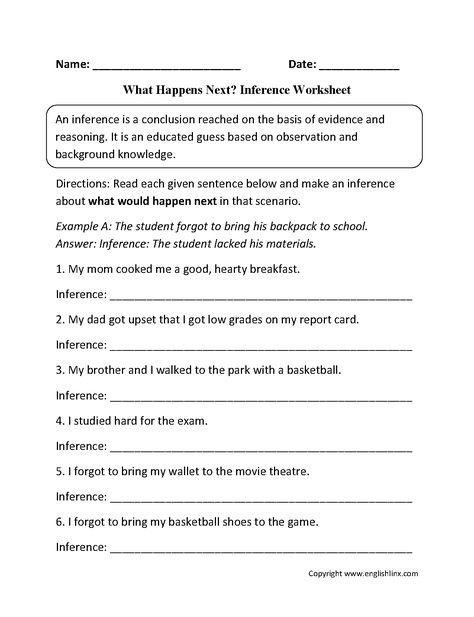 Inference Worksheets Th Grade Reading Inferring Lessons Making