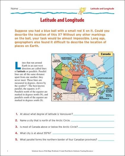 Latitude And Longitude Map Skills