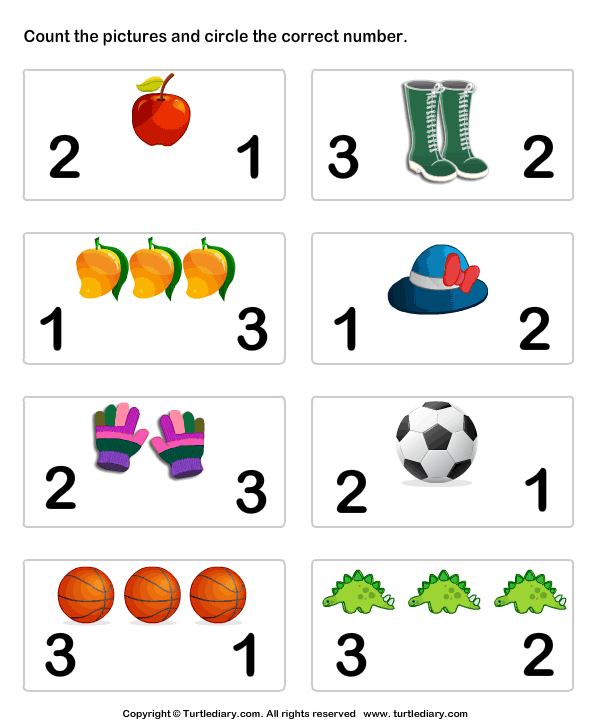 Learn To Count Worksheet