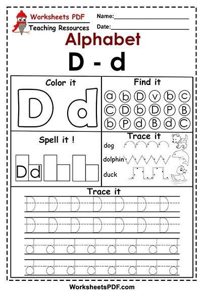 Letter D  D  Activities  Free Printables