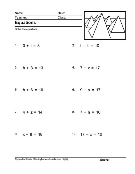 Math Expressions Teacher Edition Fourth Grade Algebraorksheets
