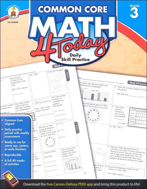 Math Today Grade Common Core Frank Schaffer Publications Shaefer