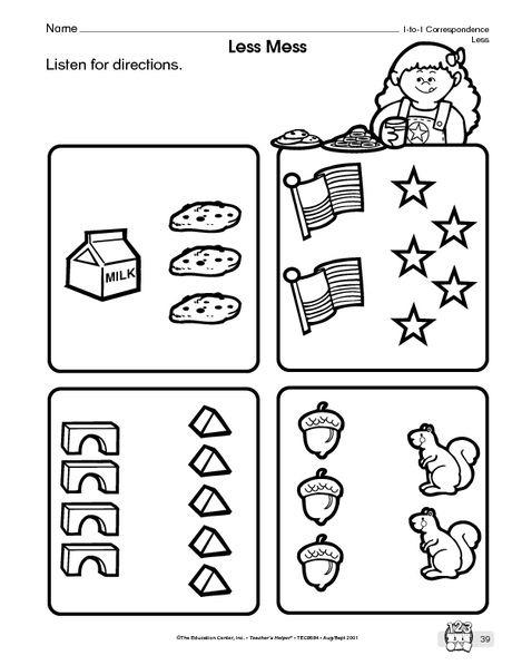Math Worksheet One