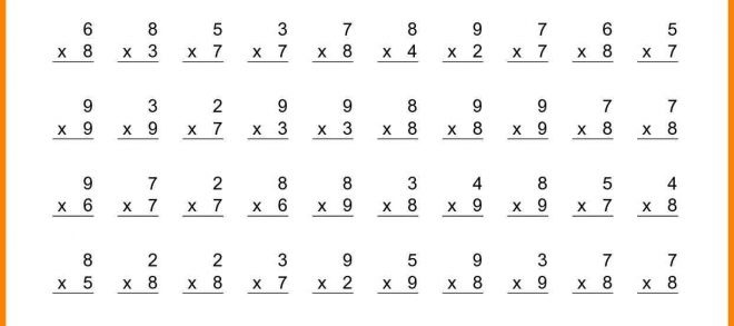 Math Worksheet Th Grade Spelling Words Multiplication Facts