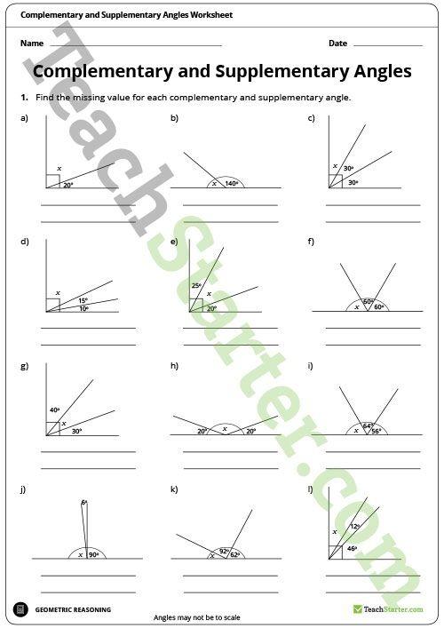Measuring Angles Worksheet Teaching Resource