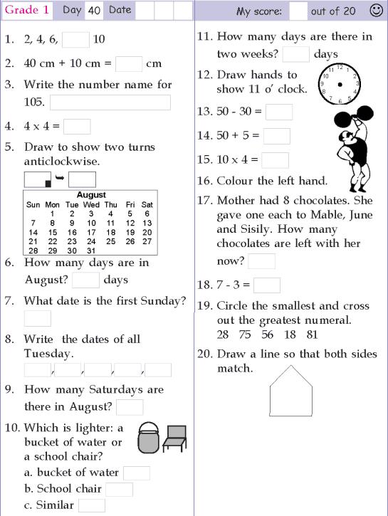 Mental Math Grade  Day