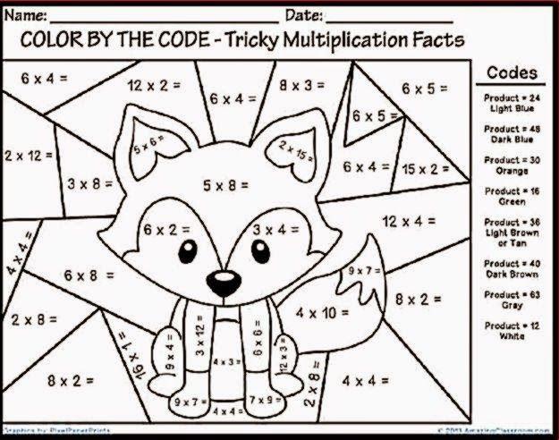 Multiplication Color Sheet Math Coloring Worksheets Fun Christmas