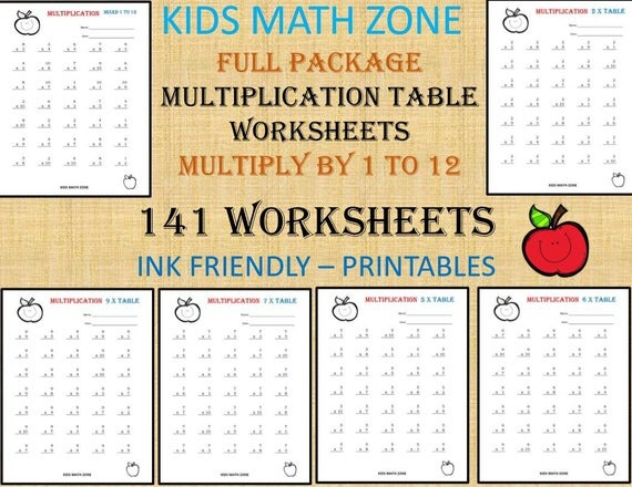 Multiplication Printable Worksheets For Nd Grade To Th