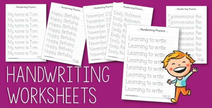 New Create Your Own Handwriting Worksheets