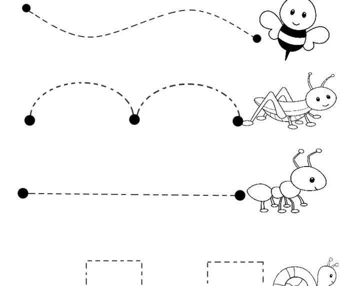 Newsflog Line Tracing For Toddlers Worksheets Horizontal Year Kids