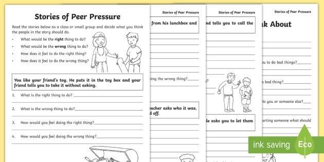 Peer Pressure Worksheets Middle School Pdf Free Download Windows