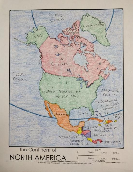 Printable North America Map