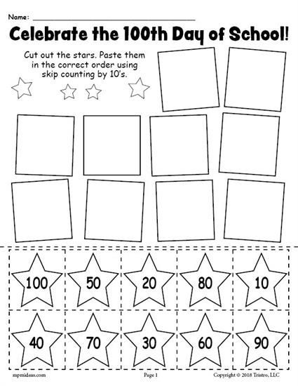 Printable Th Day Of School Skip Counting By S Worksheet