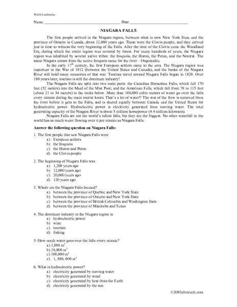 Reading Comprehension Worksheets Th Grade