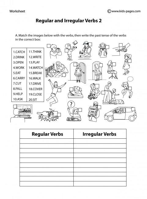 Regular And Irregular Verbs  B W Worksheet