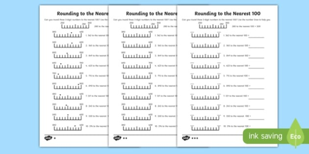Rounding To The Nearest  Worksheet