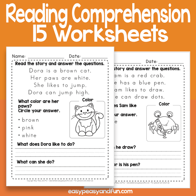 Short Reading Comprehension Passages Worksheets  Easy Peasy And