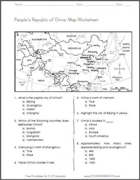 Sixth Grade Social Studies Worksheets Maps Map Thce Year Nine