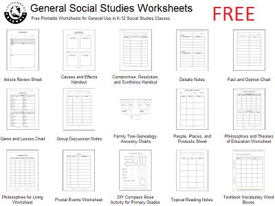 Social Studies Worksheets Printable Thade With Answer Key Pdf