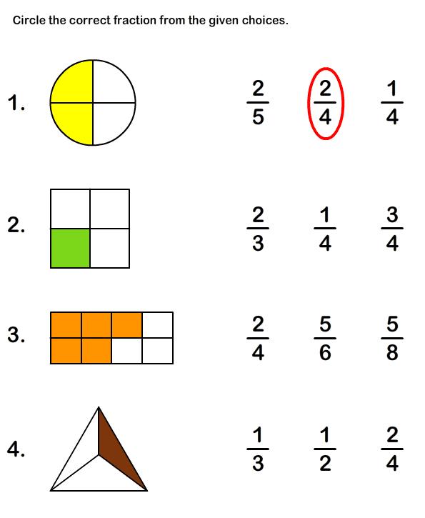 St Grade Math Worksheets Fractions Free Image