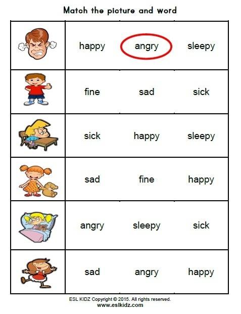 Talking About Feelings Worksheets Free For Kindergarten Kids