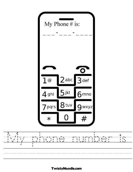 Telephone Worksheet From Twistynoodlecom