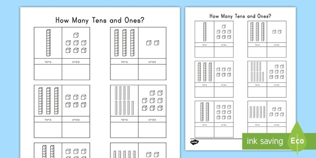 Tens And Ones With Base Ten Blocks Place Value Activity