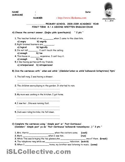 Th Grade History Worksheet