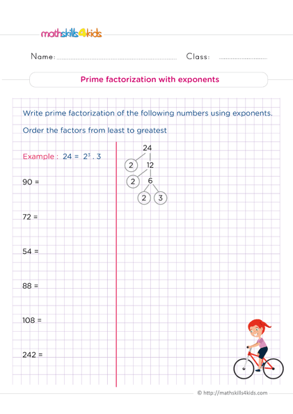 Th Grade Number Theory Worksheets Pdf