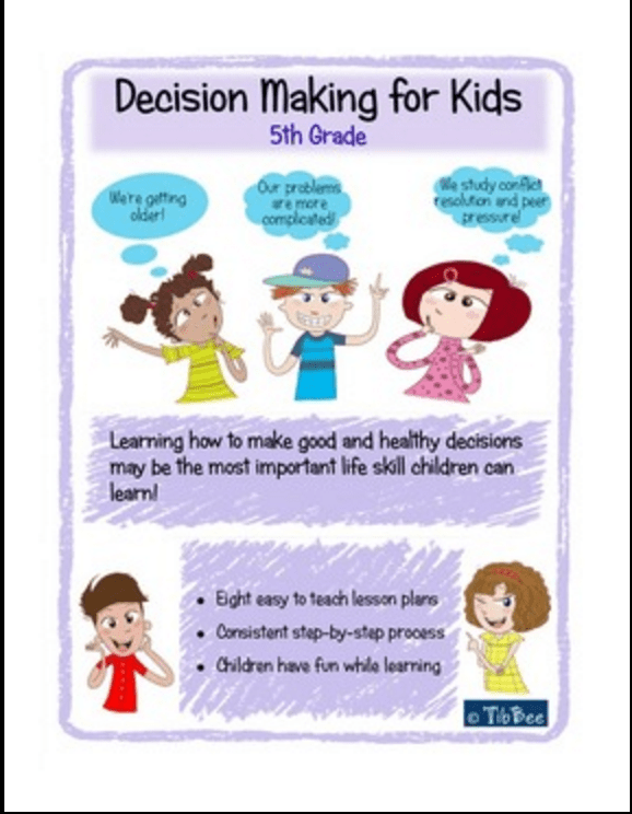 The Th Grade Decision Making For Kids Lesson Plan Features Eight