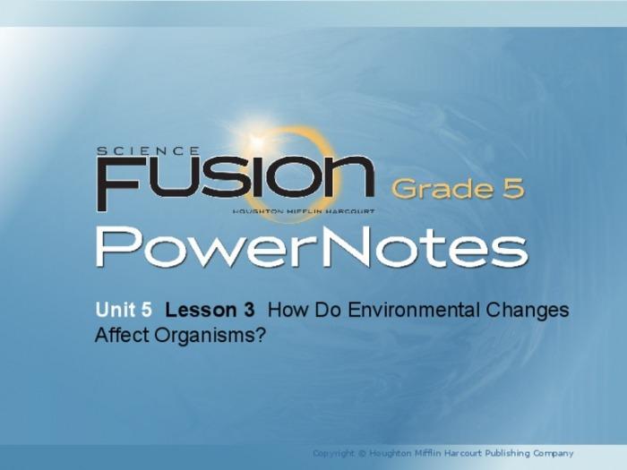 U  Lesson  Integrado Es Environmental Changes