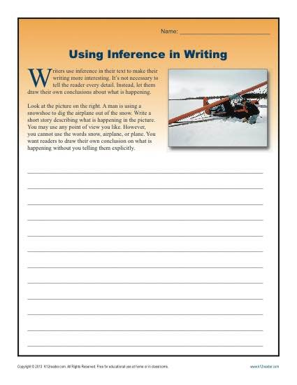 Using Inference In Writing