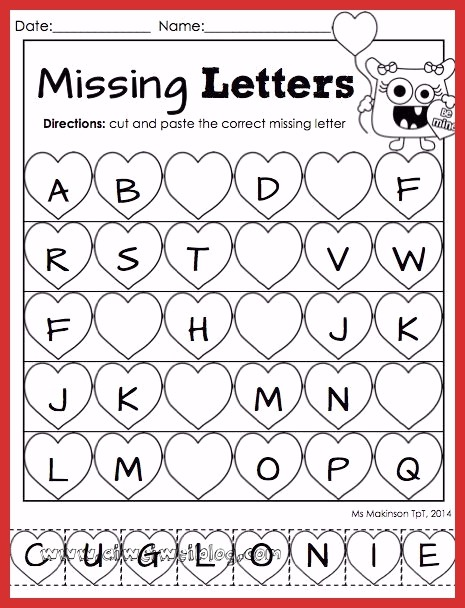 Valentine Day Worksheets For Preschoolers New February Printable