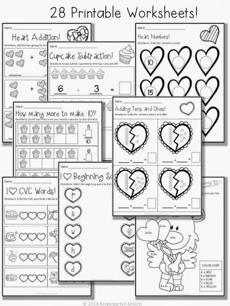 Valentines Day Math And Literacy Centers With Printable
