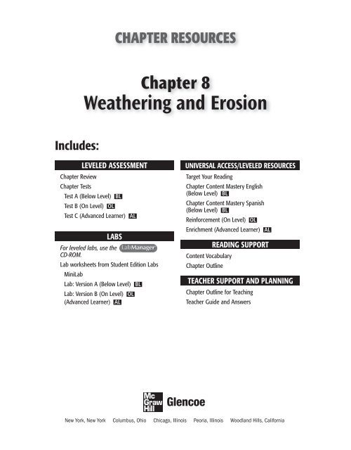 Weathering And Erosion Grade  Chapter