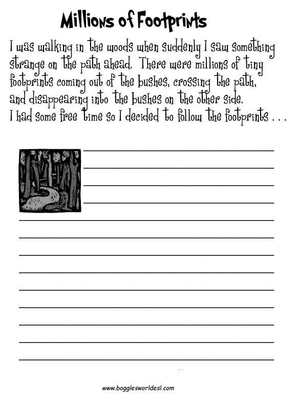 Worksheets For Creative Writing